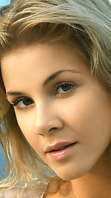 New model Kateryna has a pert bottom, perky nipples and silky blonde hair.